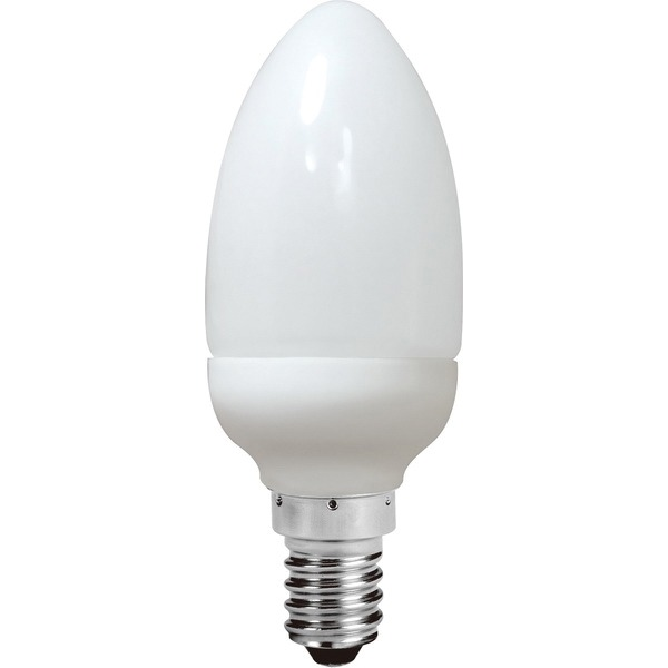AC0059 Energy Saving Lamp Candle Shape Compact Fluorescent Bulb E14 (set of 2 items)