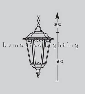 DMS0364 Chester Outdoor One Light Hanging Lantern Domus