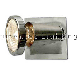 DMS0175 Dragone One Light Wall Spotlight in Brushed Chrome Domus