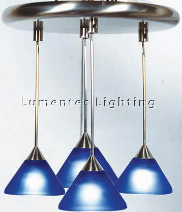 DMS0149 Four Light Round Pendant in Satin Chrome Domus