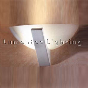 DMS0019 Milos One Light Wall Sconce with Frosted Glass Domus