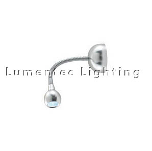 DMS0161 One Light LED Wall Spotlight in Brushed Aluminium Domus
