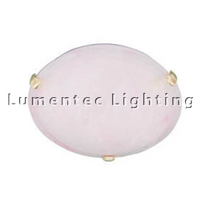 DMS0347 Small Flush Mount with Pink Alabaster Glass Domus