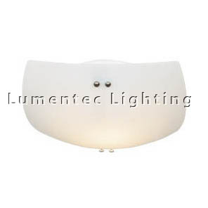 DMS0393 Small Flush Mount with Satin Opal Glass Domus