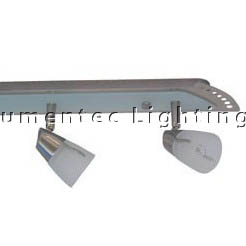 DMS0026 Three Light Linear Ceiling Spotlight in Satin Chrome with Knuckle Domus