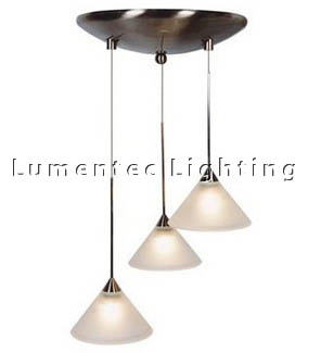 DMS0070 Three Light Round Stepped Pendant Domus