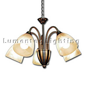 DMS0501 Vergome Five Light Chandelier in Antique Brass Domus
