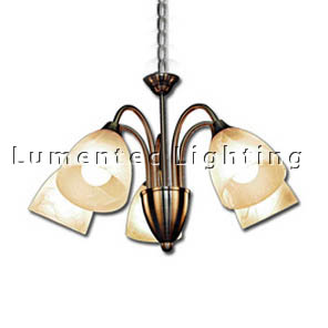DMS0395 Vergome Three Light Chandelier in Brushed Chrome Domus