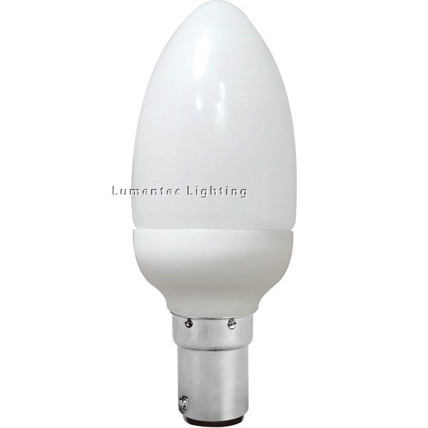 AC0060 Energy Saving Lamp Candle Shape Compact Fluorescent Bulb B15 (set of 2 items)