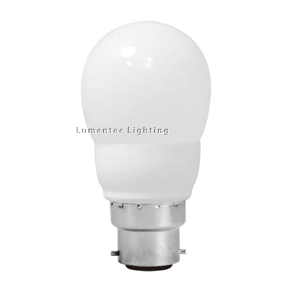 AC0054 Energy Saving Lamp Fancy Round Compact Fluorescent Bulb B22 (set of 2 items)