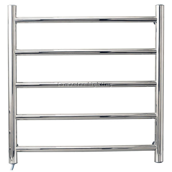 BL0008 5 rail round tube stainless steel heated towel rail