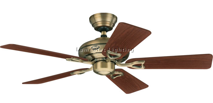 HUN0004 Seville II Ceiling Fans in Antique Brass or Brushed Nickel or New Bronze or White Hunter