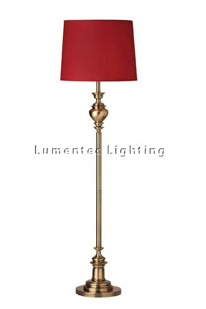 MFD0155 - 307FL Lex Floor Lamp - Antique Brass  Height:  1650mm (65