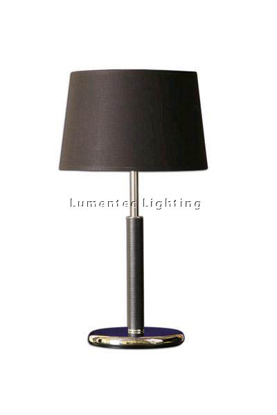 MFD0064 - 171BL Hamilton Table Lamp - Black Leather  Height: 585mm (23