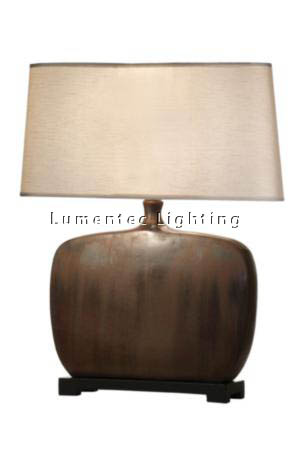 MFD0178 - 472 Homer - Table Lamp - Distressed Tan + Chocolate Table Lamp Height: 710mm (28