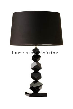 MFD0082 - 621 Dash Table Lamp - Black Crystal  Height: 640mm (25