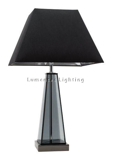 MER0026 Belle One Light Table Lamp in Black Mercator
