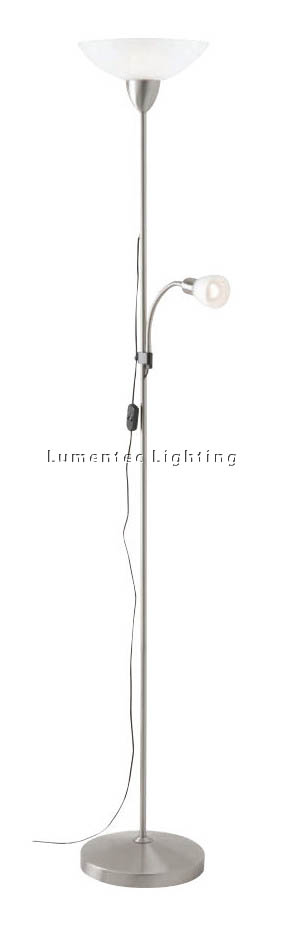 MER0028 Kerin Mother and Child Floor Lamp in Brushed Chrome Mercator