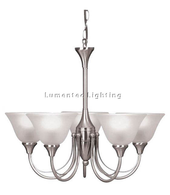 Mer0519 Lagos Five Light Pendant In Satin Nickel Mercator