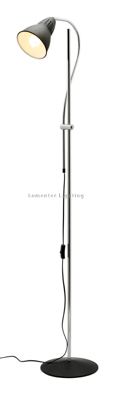 MER0739 Lyon Adjustable Floor Lamp in Matt Black Mercator