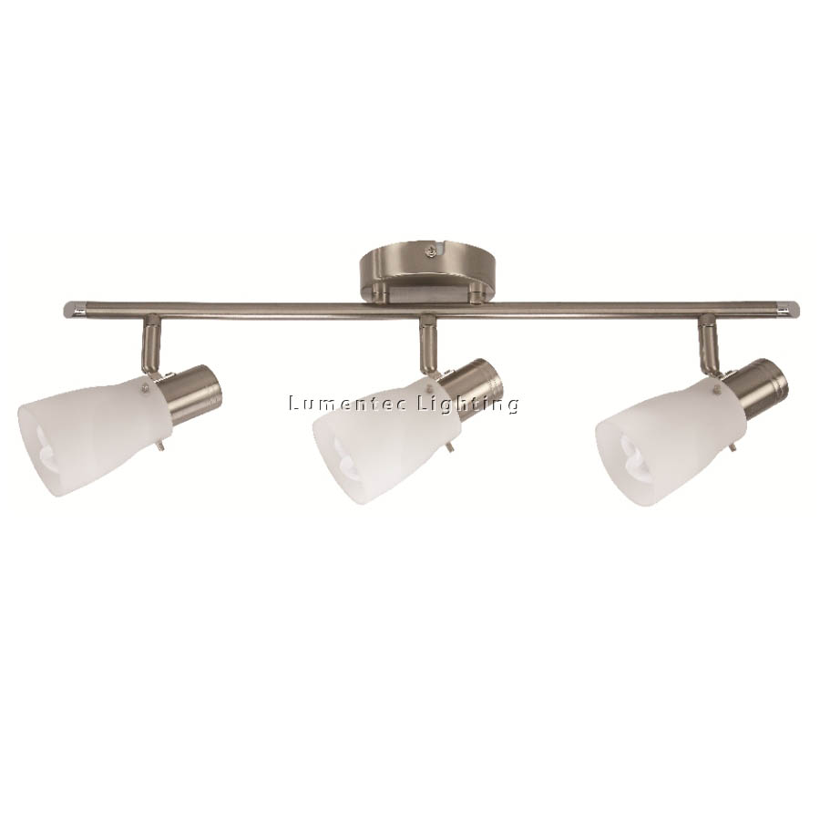 MER0224 Macedon Three Light Spotlight in Brushed Chrome Mercator