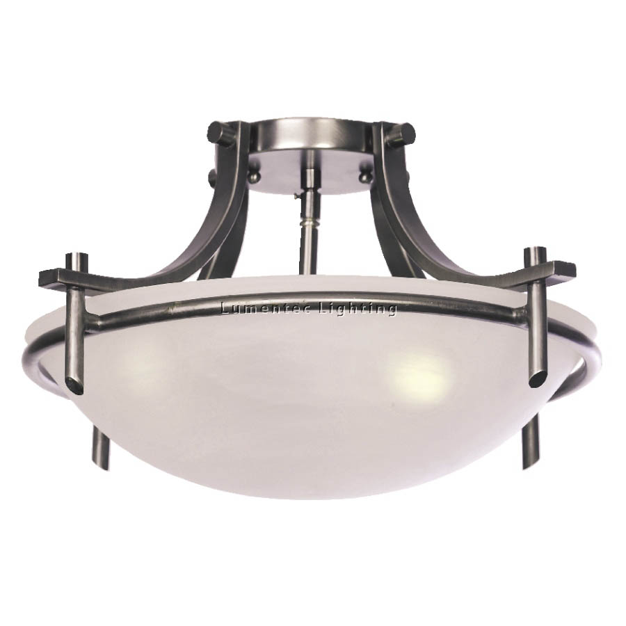 MER0170 Madison Close to Ceiling Three Light Flush in Graphite Mercator