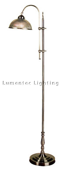 MER0139 Marina One Light Floor Lamp in Antique Brass Mercator