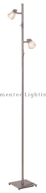 MER0196 Presto Two Light Floor Lamp in Brushed Chrome Mercator