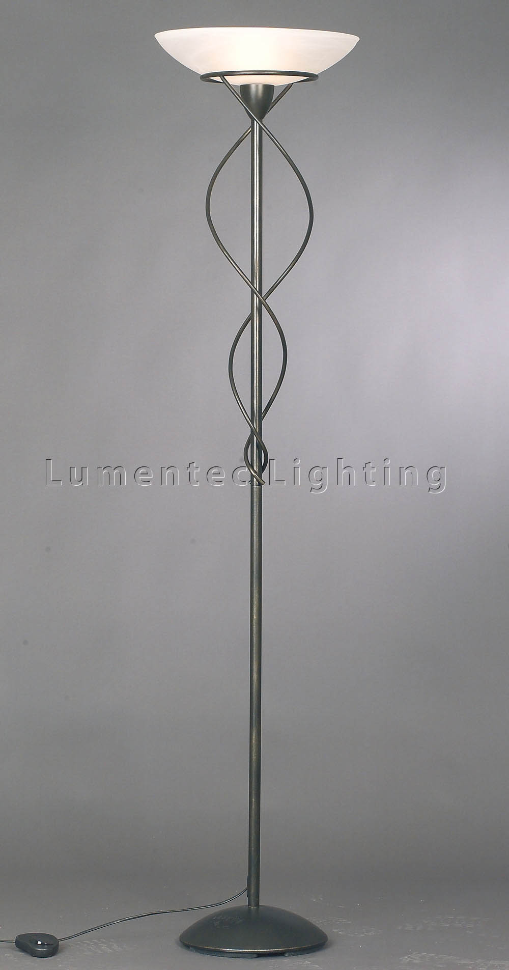 MER0690 Provence Floor Lamp in Antique Brass Mercator