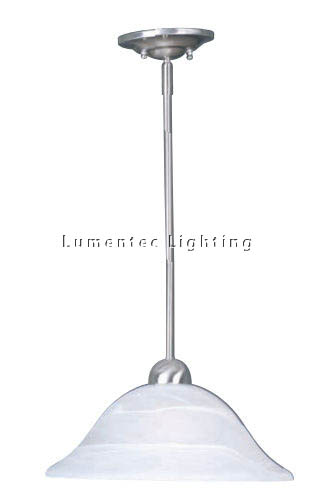 MER0278 Reata One Light Rod Pendant in Brushed Chrome Mercator