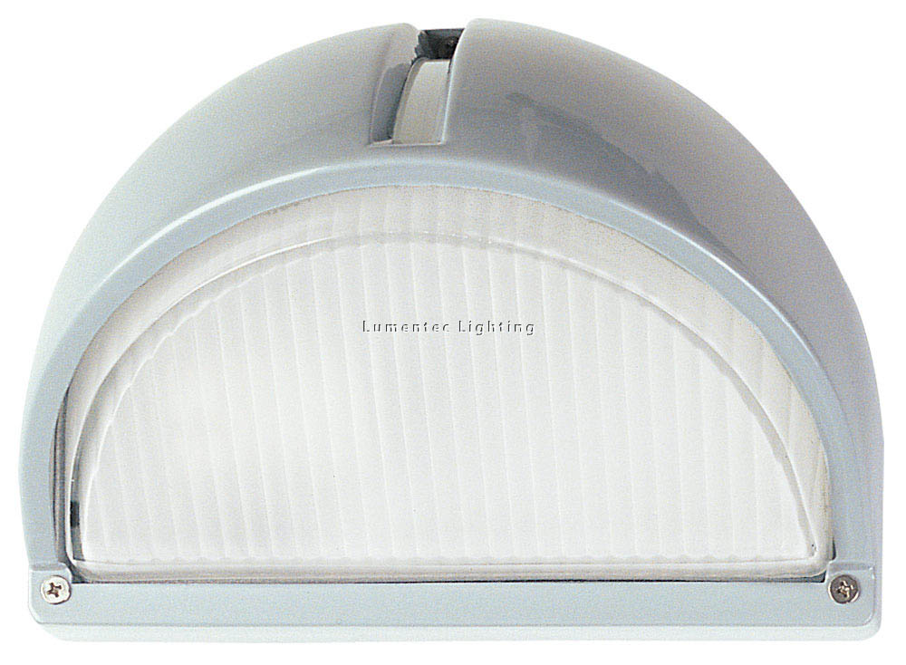ORL0202 Cheval Exterior Cast Bunker Fitting Light in Silver Oriel