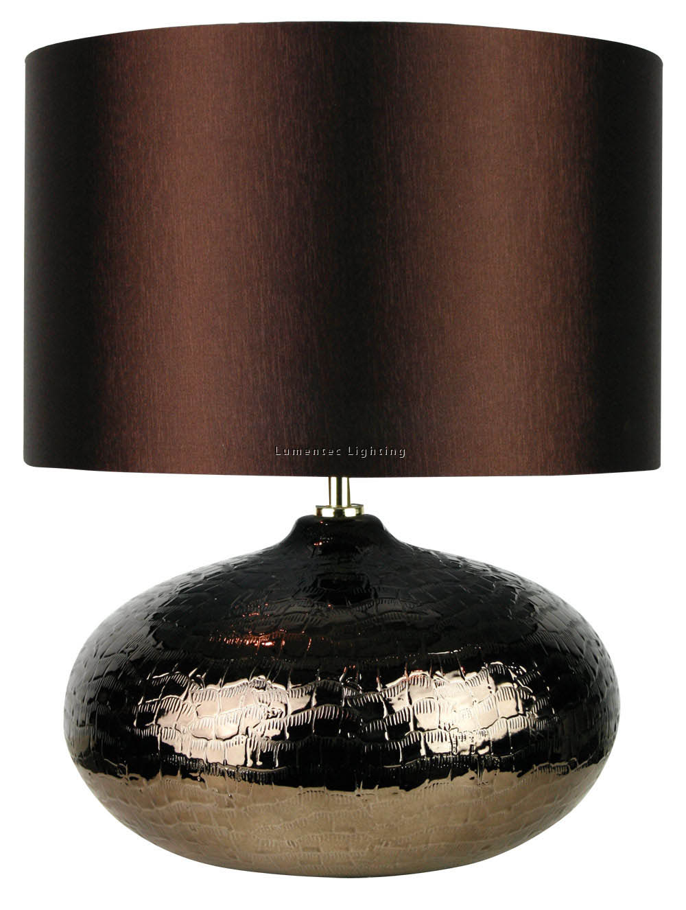ORL0566 Fusion Crocodile Complete Table Lamp in Brown Oriel