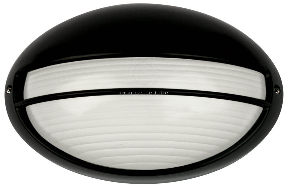 ORL0397 Galaxy Large Exterior Bunker Eyelid Light in Black Oriel
