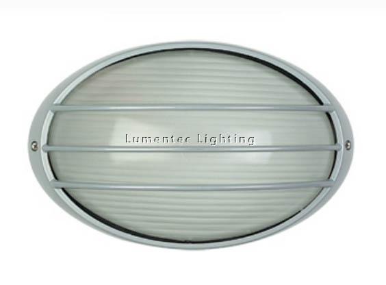 ORL0759 Galaxy Small Exterior Bunker Light with Guard in Silver Oriel