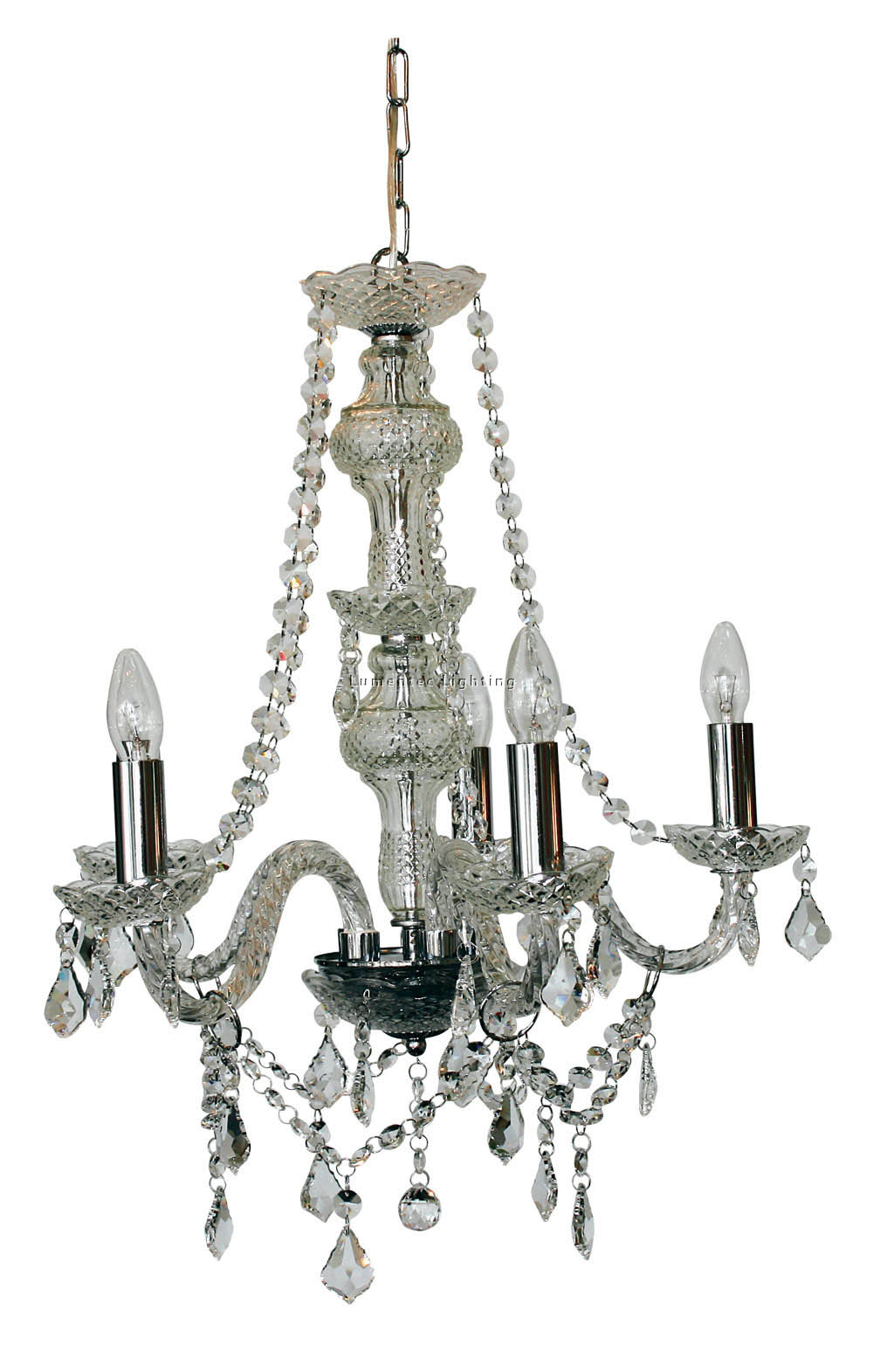 ORL0149 Grand 5 Light Pendant in Chrome / Clear Oriel