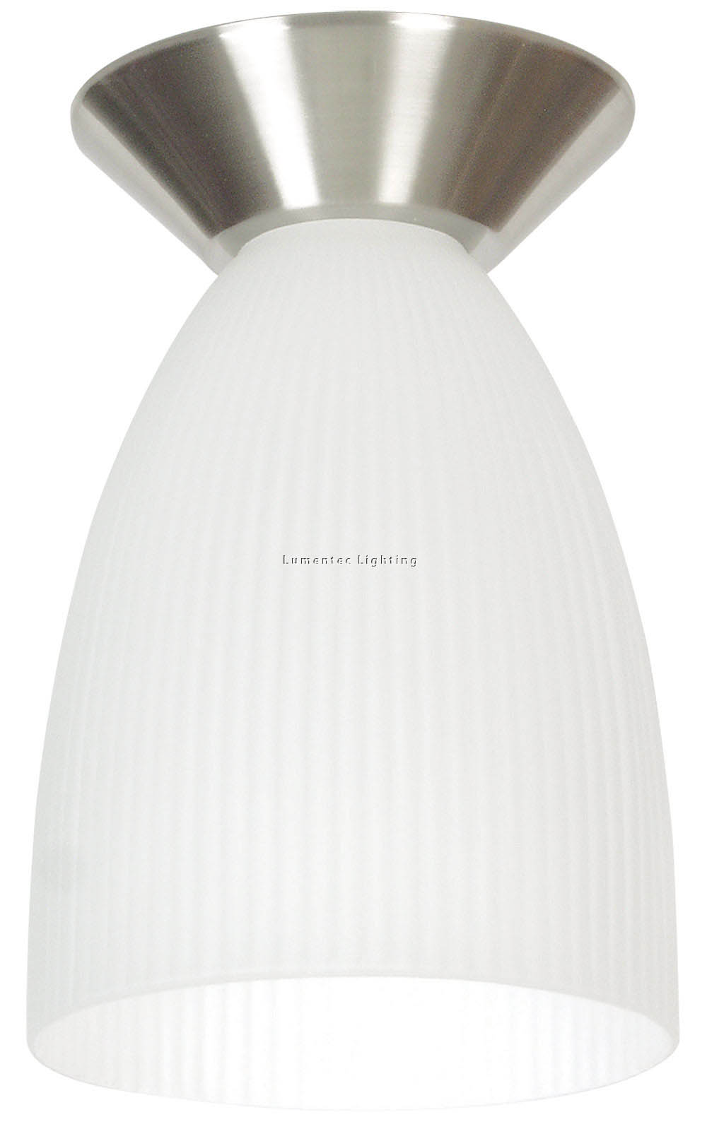 ORL0154 Holophane Opal Batten Fix Flush Mount in Matt / Brushed Chrome Oriel