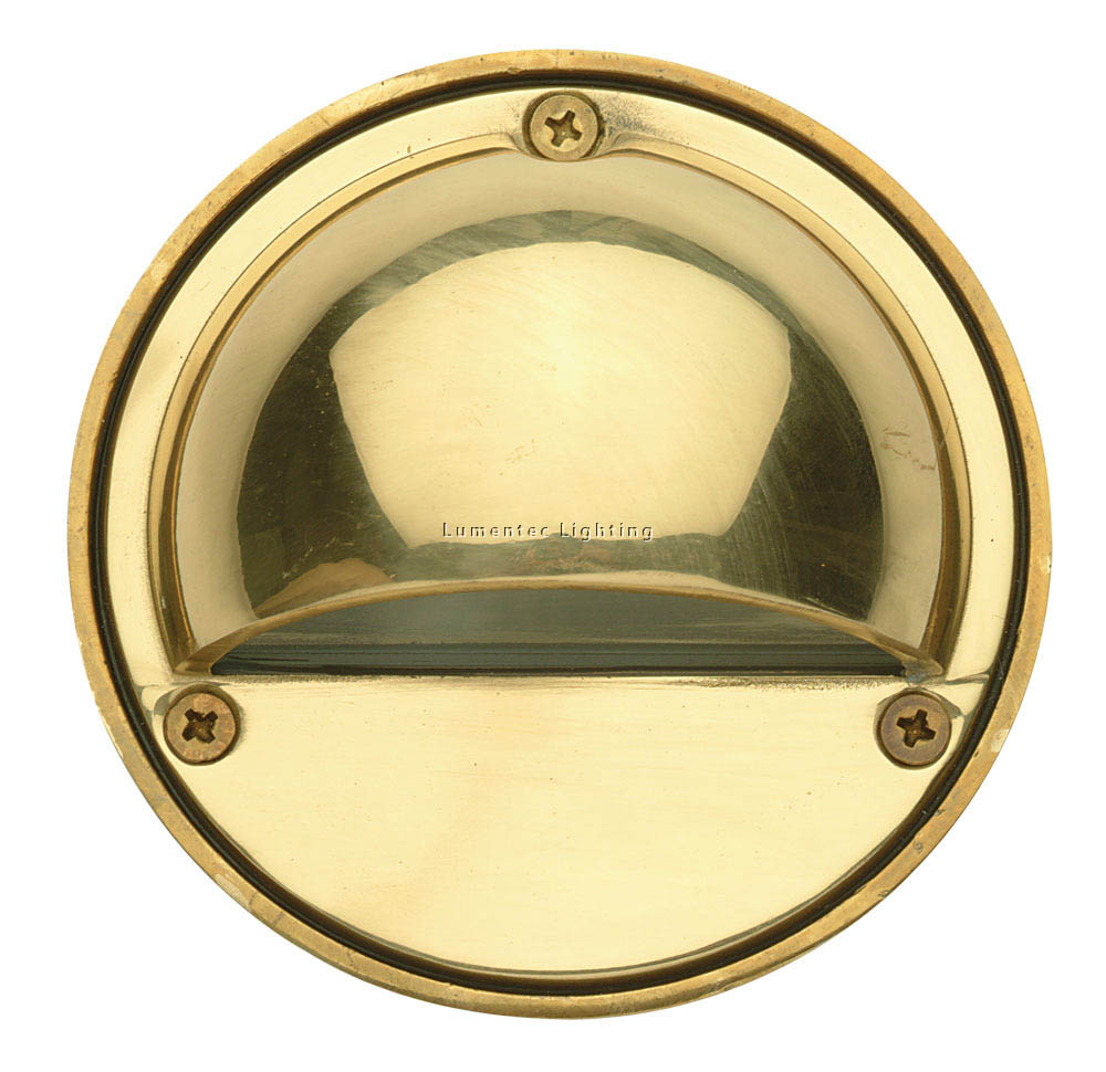 ORL0778 Luna Garden Eye Step Light in Solid Brass Oriel