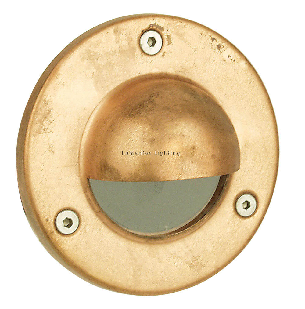 ORL0794 Rocco Hooded LV Exterior Recessed Wall Light in Copper Oriel