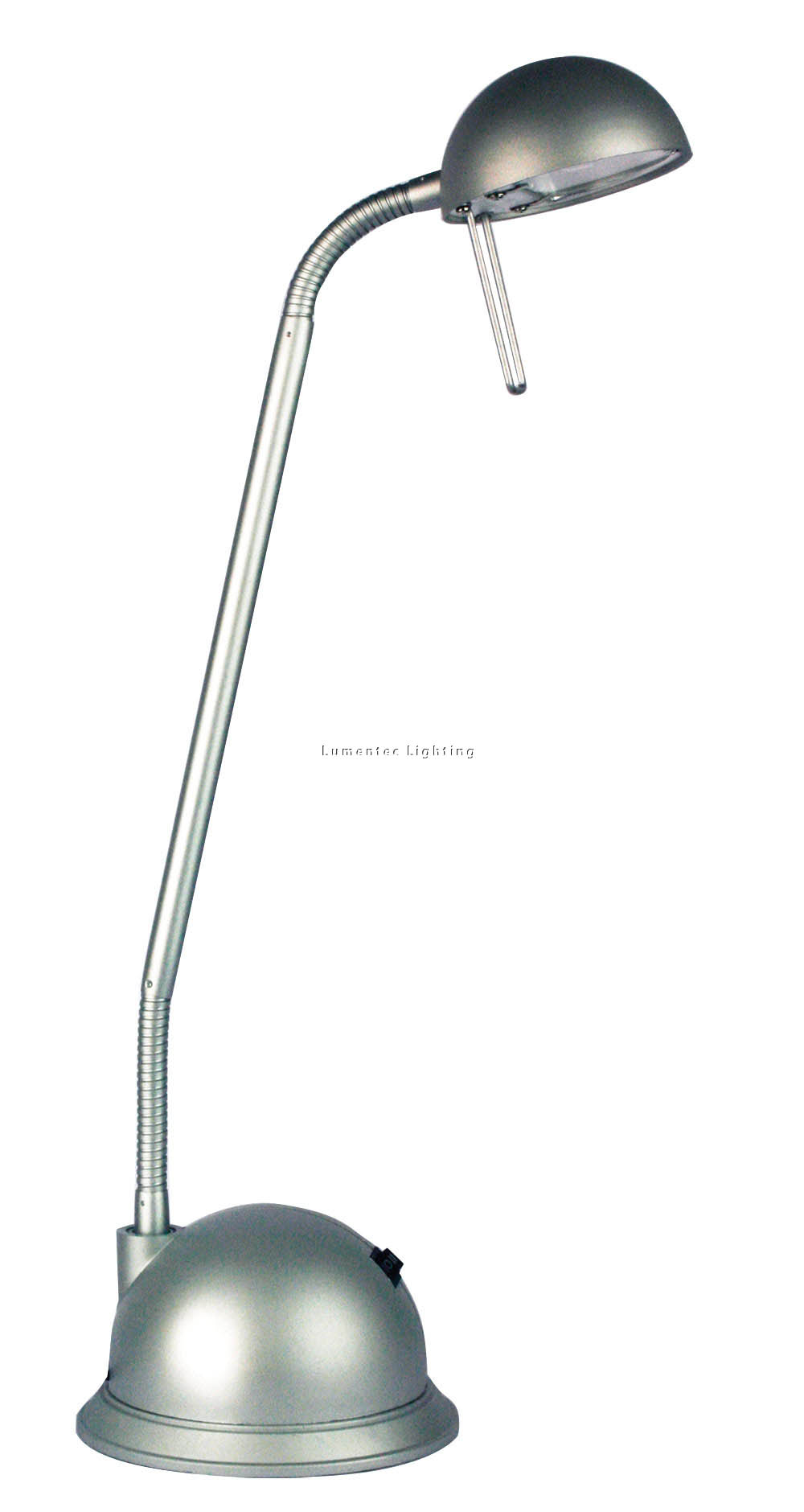 ORL0457 Tema Halogen Desk Lamp in Silver Oriel