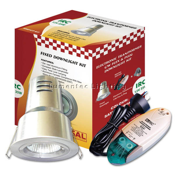 SUN0155 Downlight Recessed Lighting Kit Irc with Can and Plug S9001 CIMP Sunny Lighting