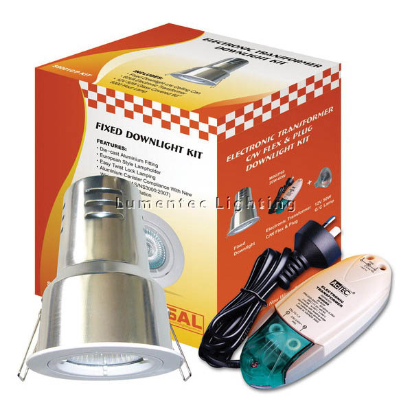 SUN0279 Downlight Recessed Lighting Kit Mini60 with Can and Plug S9001 cmP Sunny Lighting