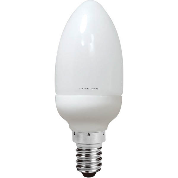 SUN0455 Energy Saving Lamp Candle Shape Compact Fluorescent Bulb E14 Sunny Lighting