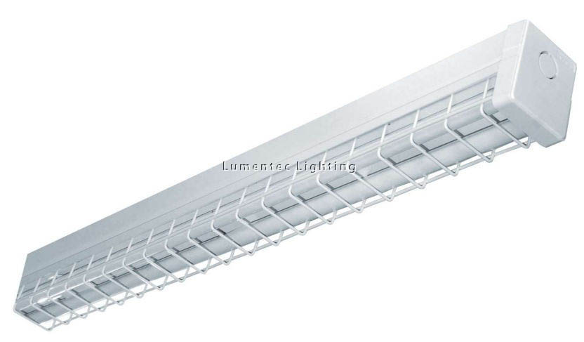 SUN0288 Wire Guarded Batten One Light Strip Light in Powder Coated Sunny Lighting