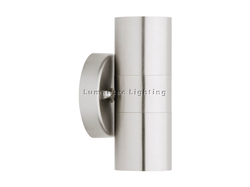 WL0095 Helsinki 2 Light Outdoor Wall Light in 304 or 316 Stainless Steel Cougar