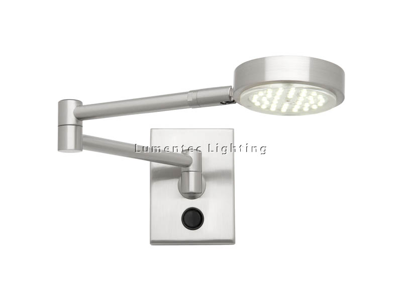 PL0003 Cougar Lighting	Liston 1lt Swing Arm Picture Light
