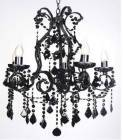VMI0002 Venice 5 Light Chandelier in Black