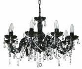 ORL0664 Marie Therese 8 Light Pendant in Black / Clear Oriel